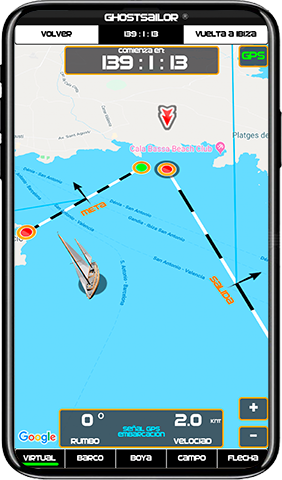 Virtual Regatta App by GPS for boats